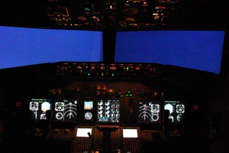 Simulador com operação noturna.