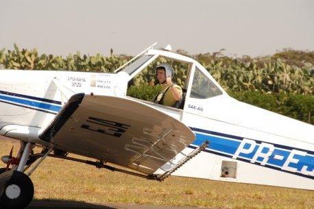 Cmte Martucci pronto para decolagem.