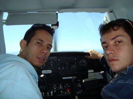 Instrutor Ivo e aluno Ronald