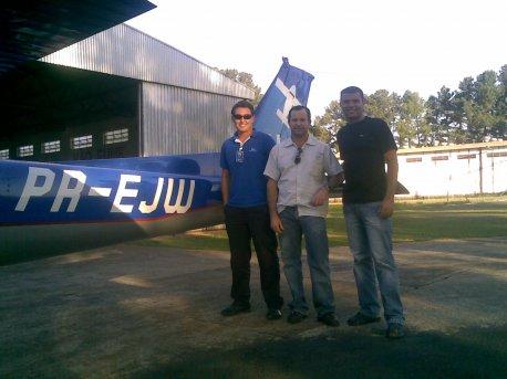 O Diretor da EJ, Josué de Andrade, acompanhou a chegada dos aeronavegantes do Cross Country Natal, uma das maiores navegações já realizadas na EJ.