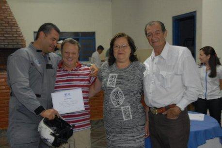 Cmte Edmir, Marcelo Marques e seus pais.