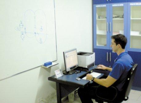 Sistema Flight Center, onde o aluno tem total acompanhamento on-line do treinamento.