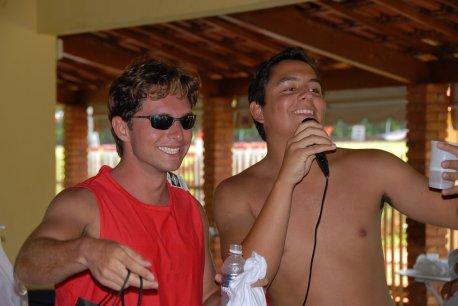 Instrutores- Raphaeli e seu representante Pepe.