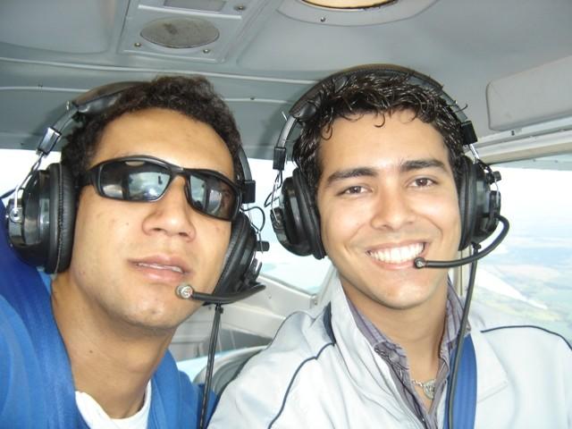 Instrutor Dauro e aluno Alexandre Chagas.