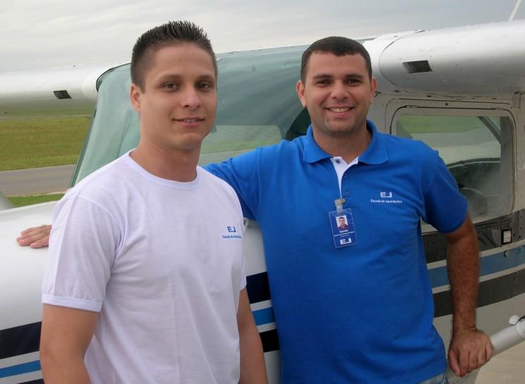 Aluno Felix e o Instrutor Varela.