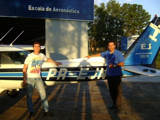 Daniel Barros e instrutor Tércio.