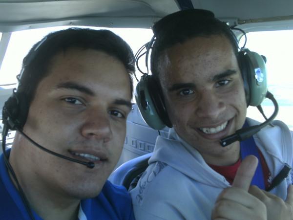 Henrique Pires e eu em vôo...