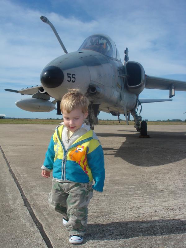 Meu filho, futuro comandante..