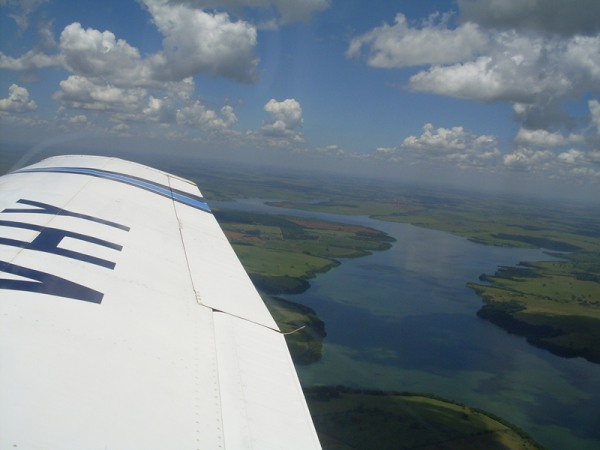 Voando sobre o Tietê