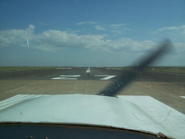 Iniciando decolagem em Maringá