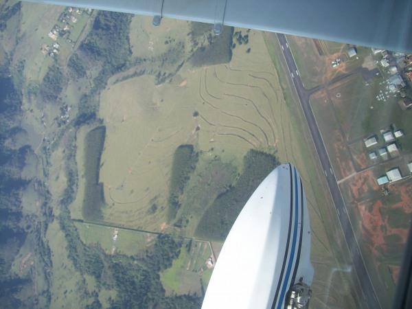 Aeroporto de Marilia abaixo seguindo para Foz do Iguaçu.