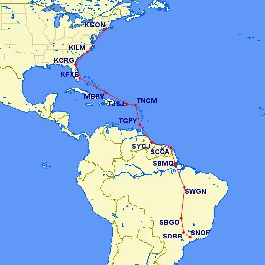 todo a rota! 4998 miles!