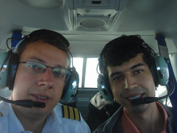 Navegação com o aluno Felipe Freire