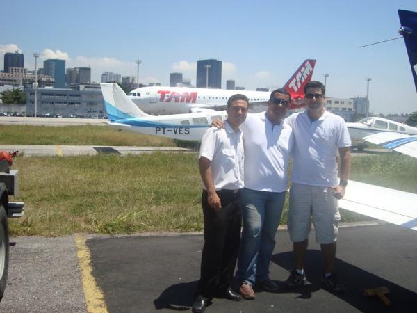 Navegação ao Nordeste PT-NVG pousado em SBRJ Retorno a Itápolis