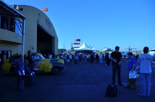 Vista do patio dos hangares
