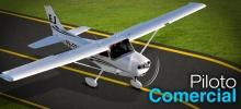 O curso prático para Piloto Comercial é o primeiro rumo à profissionalização.