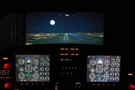 Aproximação noturna VFR na pista 10 no Aeroporto Internacional do Rio de Janeiro - Antonio Carlos Jobim