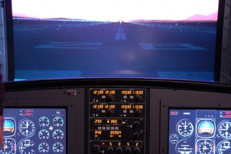 Visão do piloto em relação ao Cockpit.