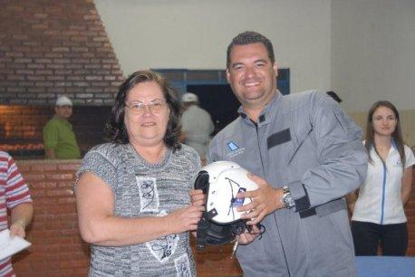 Marcelo recebeu o diploma de sua mãe, Sra Eda.