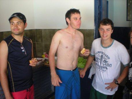 Anderson, Rafael e Ivo.