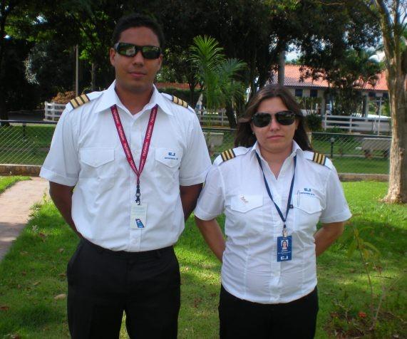 Os mais recentes instrutores da EJ, Alfredo e Ana Paula.