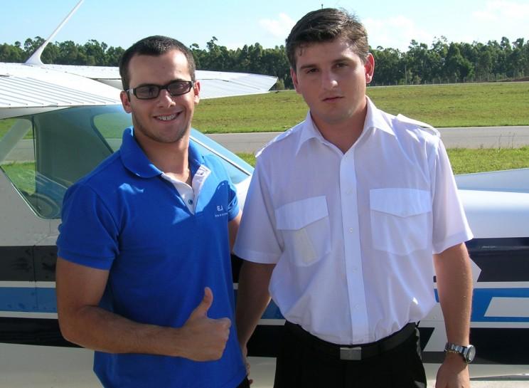 Allan e o Checador Daniel.