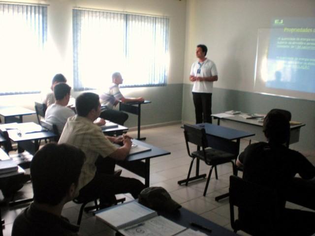 Aula de Meteorologia com o Prof/Inst Marcos Fernando Borázzio