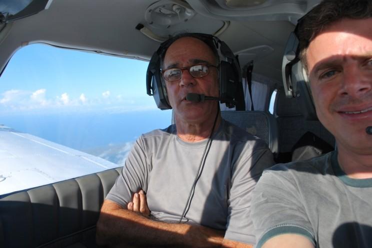 Cmte Reis e Piloto Hendel no comando.