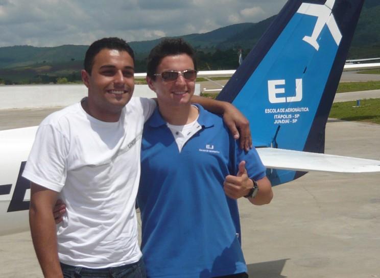 Cleiton e o Instrutor Leandro (Ibiá)