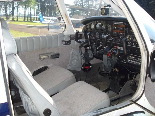 Interior da aeronave.