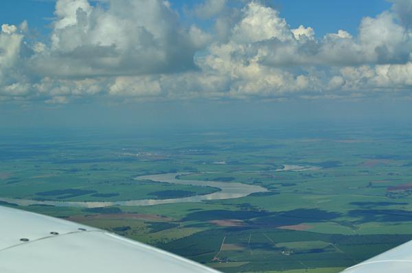 Ibitinga vista de cima a bordo do Baron PR-VLB.