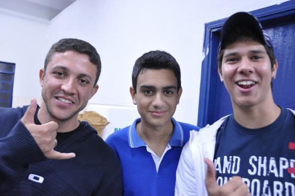 Alunos Northon, Rodolfo e Diego