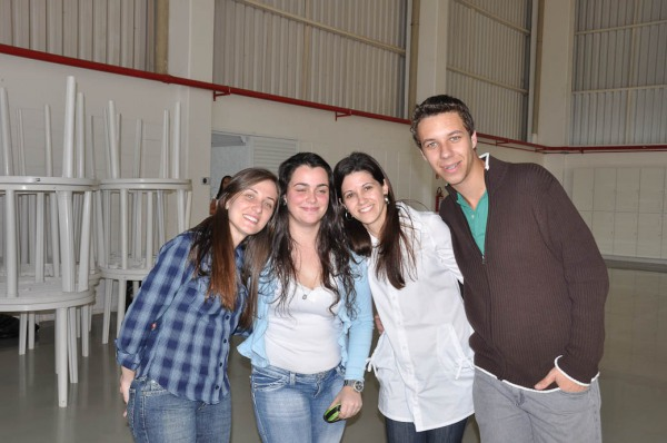 Mariana, Rafaela, Andréa e Rafael